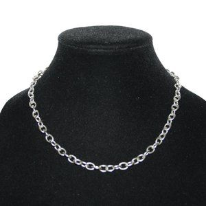 Silver chain necklace tiff style
